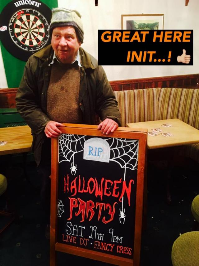 Lawrence is looking forward to welcoming you to our Halloween party !! #angarrackinn #oct29saturday #livedj #fancydress